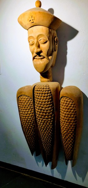 Afonso de Albuquerque called the Caesar of the East - a wooden sculpture by Dr. Subodh Kerkar at the Museum of Goa