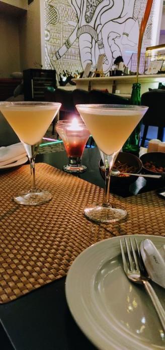 Lychee ginger martini at Ivory in Taj Bekal