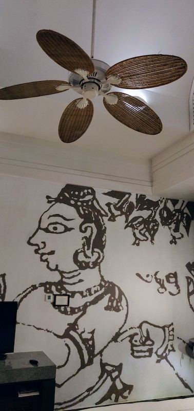 The vintage fan in the villa