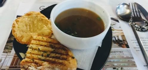 """Soupe a l""""onion at Cafe Noir, UB City, Bangalore"""