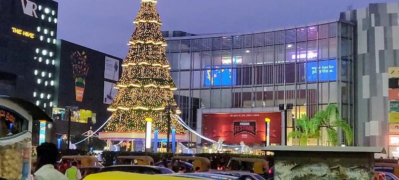 Christmas tree at Phoenix Market City Mall, Bangalore