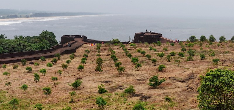 The Bekal fort overlooking the Arabian sea