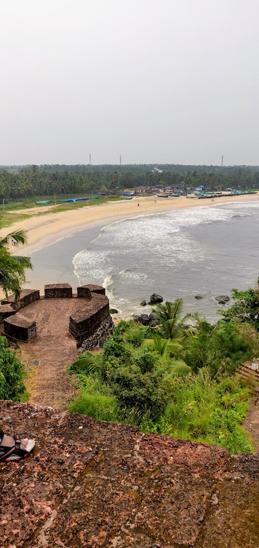 A bastion of the Bekal fort overlooking the sea