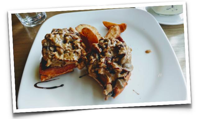 Chicken and Mushroom Waffle