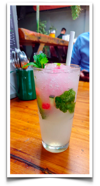 A mint mocktail