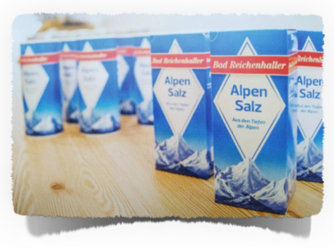 The popular brand of table salt, Bad Reichenhaller AlpenSalz is supplied from here.