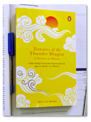 """ Treasures of the Thunder Dragon"" A Portrait of Bhutan by  Ashi Dorji Wangmo Wangchuck, Queen Mother of Bhutan."