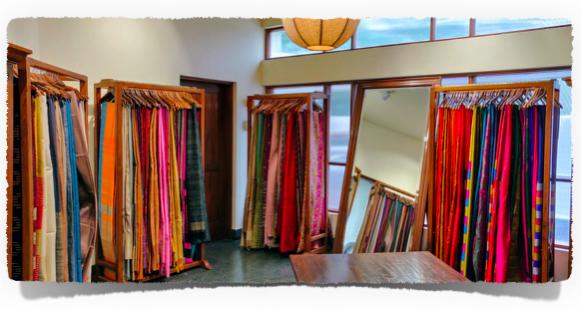The beautiful display at the Taneira shop