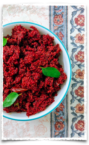 Carrot and beetroot thoran