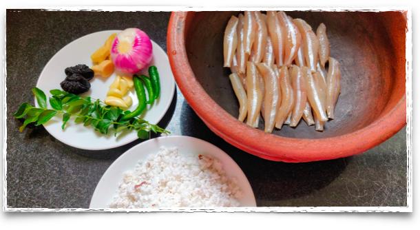 The essential ingredients for Meen Peera