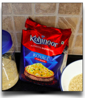 Basmati rice for the pulao