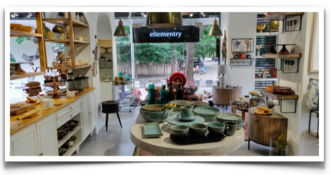 The Ellementry showroom at Indiranagar, Bangalore