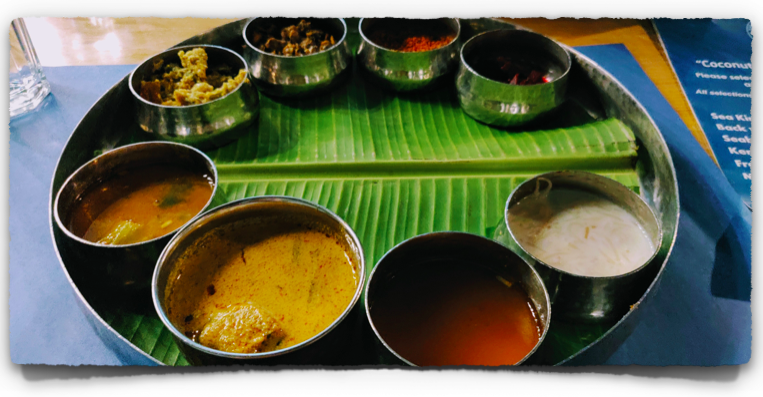 Half Fish Thali at Cheenavala Restaurant at Kochi