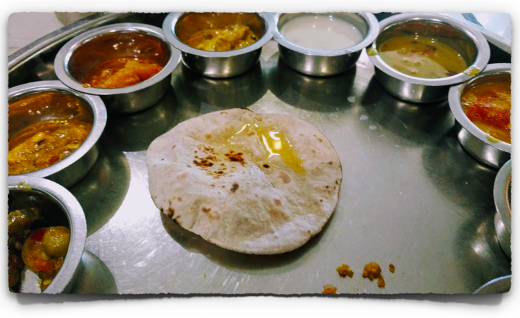 Veg Thali at Panchavati Gaurav Restaurant in Bangalore