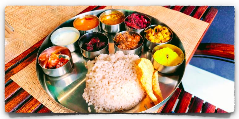 Beef Thali at Curry Leaf Restaurant in Kochi