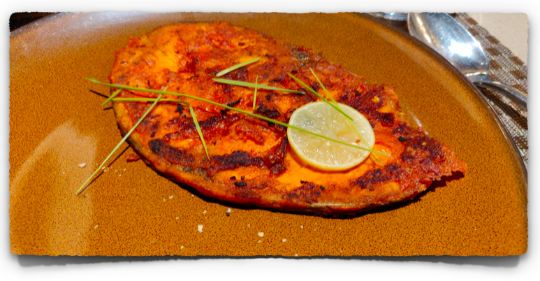 Tawa Macchi (Pan Fish) at Punjab Grill