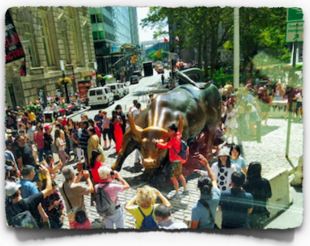 The Charging Bull on the Wall Street