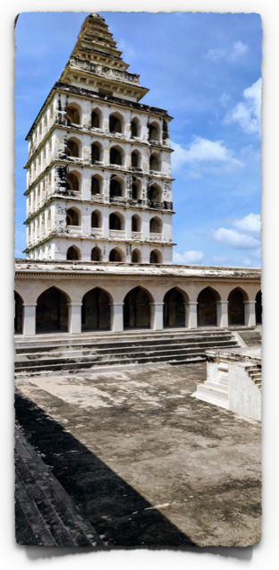 The seven storied tower of the Kalyana Mahal at Gingee fort