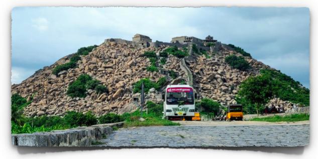 The Krishnagiri hillock at Gingee fort
