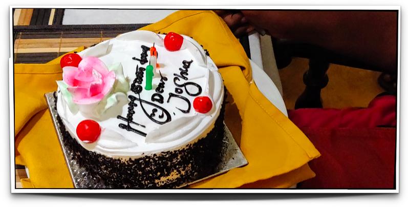 Birthday surprise at Maison Perumal