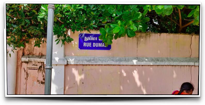 Rue Dumas in French Pondicherry