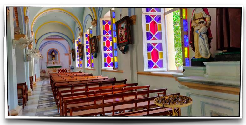 Inside Eglise de Notre Dame des Anges in Pondicherry