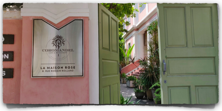 Coromandel cafe on Rue Romain Rolland, Pondicherry