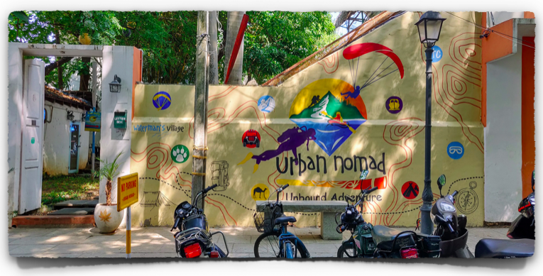 Scuba diving at Urban Nomad, White Town, Pondicherry