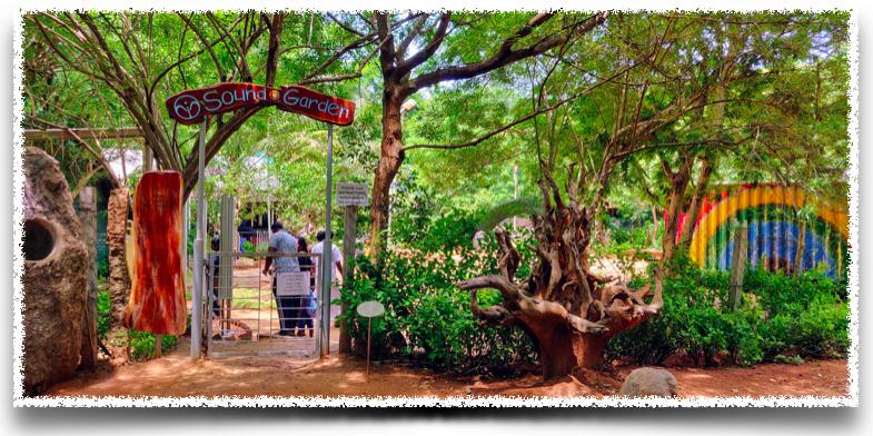 The Sound Garden at the SVARAM unit in Auroville