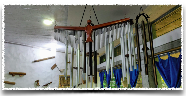 Wind chimes for sale at the shop