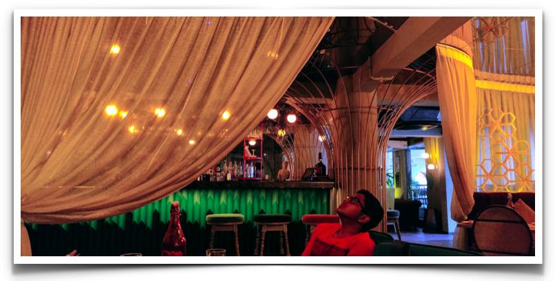 Inside the restaurant Nevermind at Indiranagar