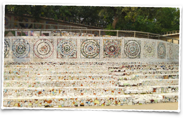 An amphitheatre of mosaic at the Rock Garden