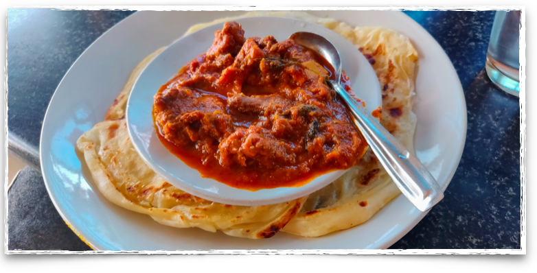 Kerala parotta and beef at Indian Coffee House