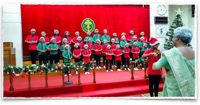 Kids choir at a Syrian Christian church in Chennai