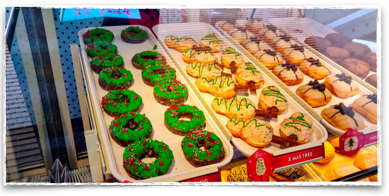 Doughnuts for Christmas from Krispy Kreme