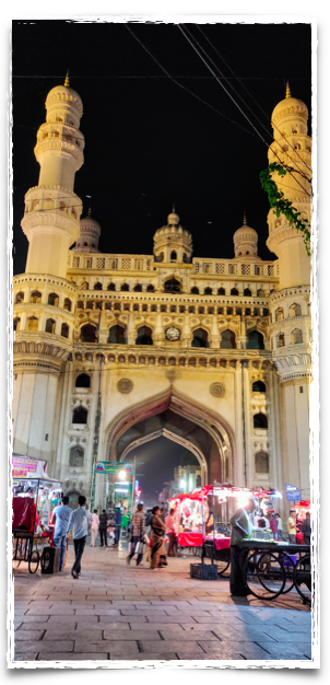 Charminar stands at the centre of Hyderabad