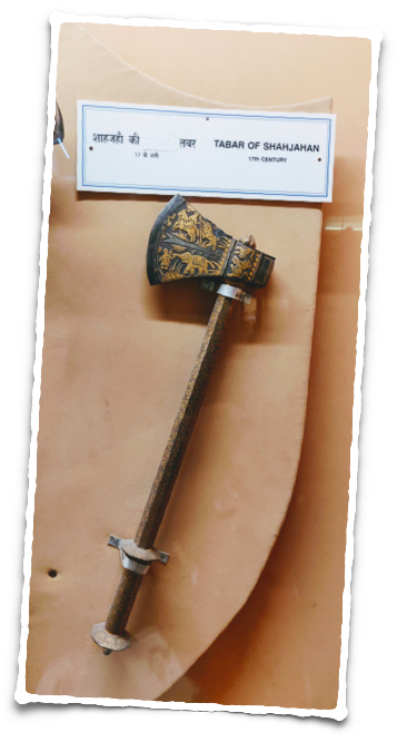 Axe (tabar) of Shah Jahan at the Salar Jung Museum