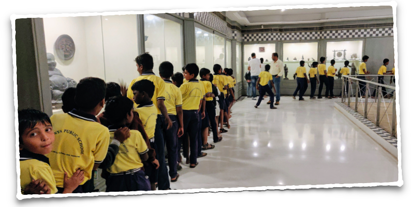 School kids visiting the museum