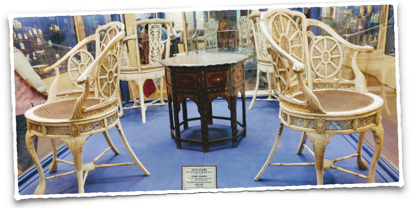 Ivory Chairs gifted to Tipu Sultan by Louis XVI of France