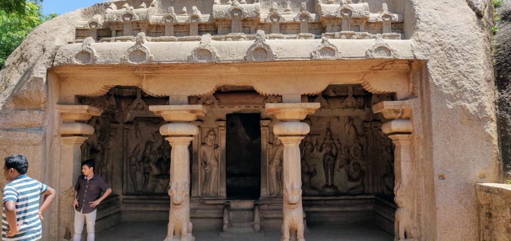 The rock cut temple called Varaha Mandapam