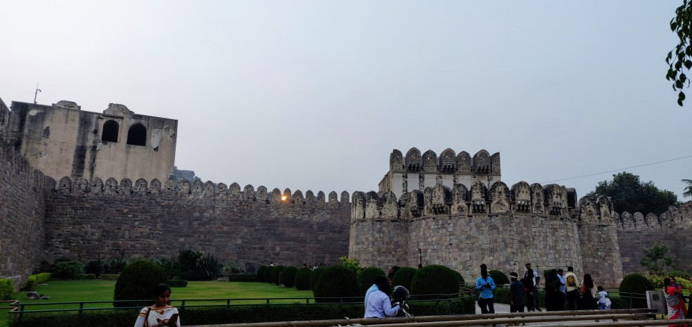 Sunset at the Golconda Fort, Hyderabad