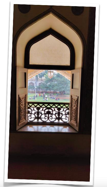 Backyard from the first floor of the Khilwat Mubarak