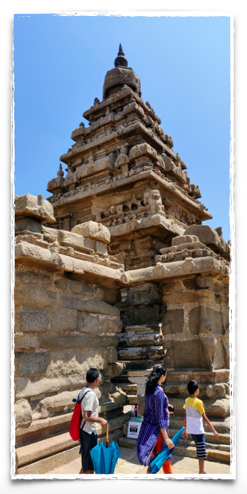The Shore Temple is a masonry structure