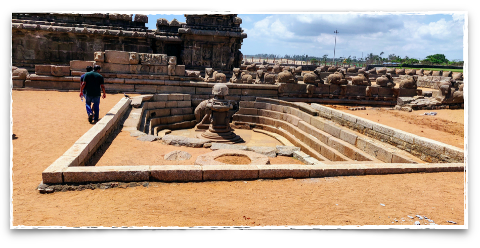 Ruins of the Shore Temple buried in sand