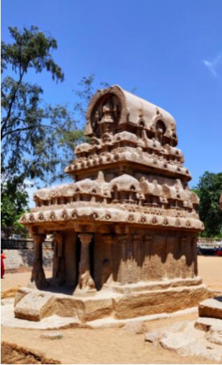 The fourth is called Nakula - Sahadeva Ratha dedicated to Lord Indra