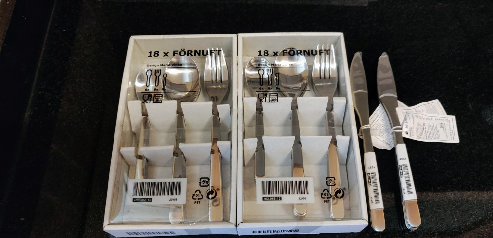 Stainless steel cutlery from Ikea, Hyderabad
