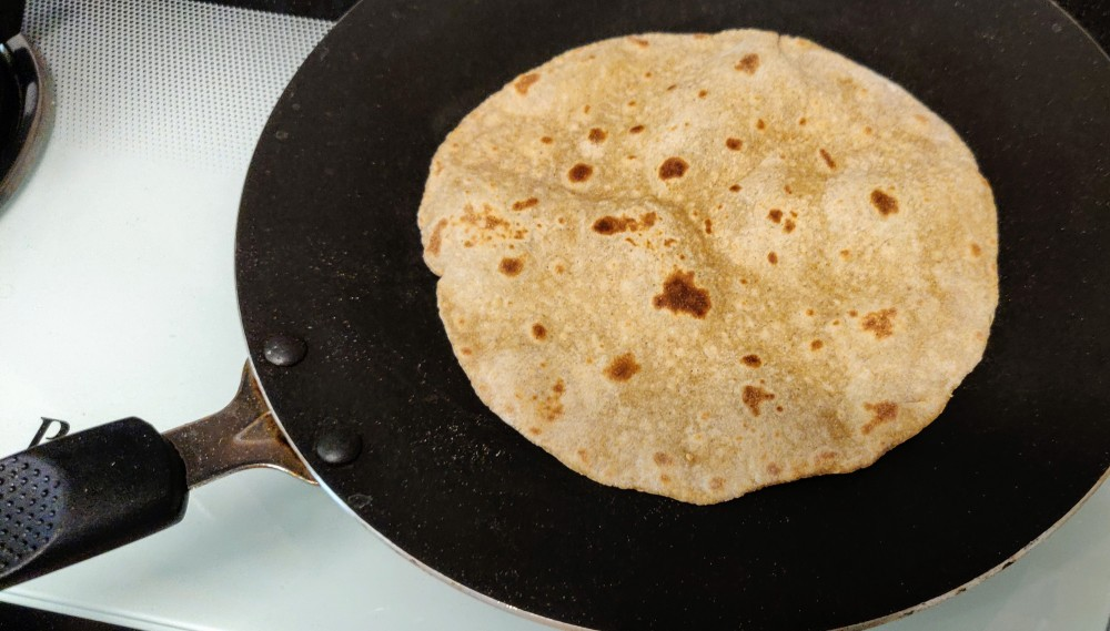 Chapati made from atta and millet mix