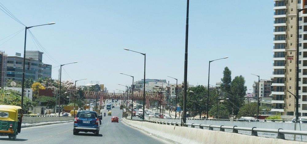 The near empty Outer Ring Road, Bangalore