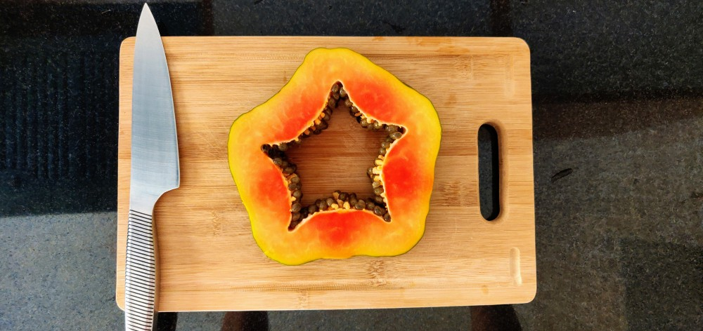Red lady papaya is a star